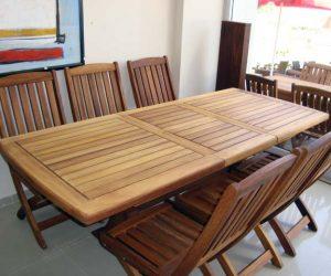 iroko bahçe masa ve sandalyesi